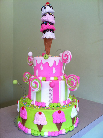 Children 3 Tier Birthday Cake