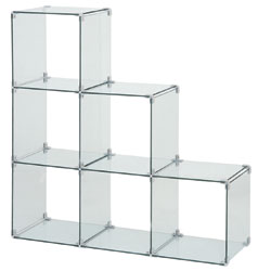 Awesome Glass Shirt Cubes   Used Clothing Racks